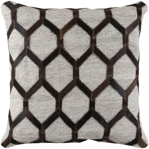 Medora Black and Brown 20-Inch Pillow Cover