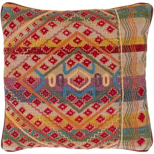 Surya Monetta Multicolor 20 x 20 In. Throw Pillow