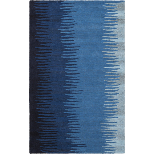 Mosaic Blue Rectangular: 3 Ft. 3 In. x 5 Ft. 3 In. Rug