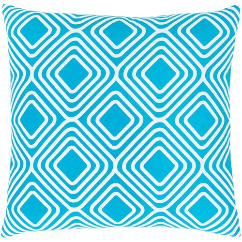 Surya Miranda Blue And Neutral 22 Inch Pillow Cover