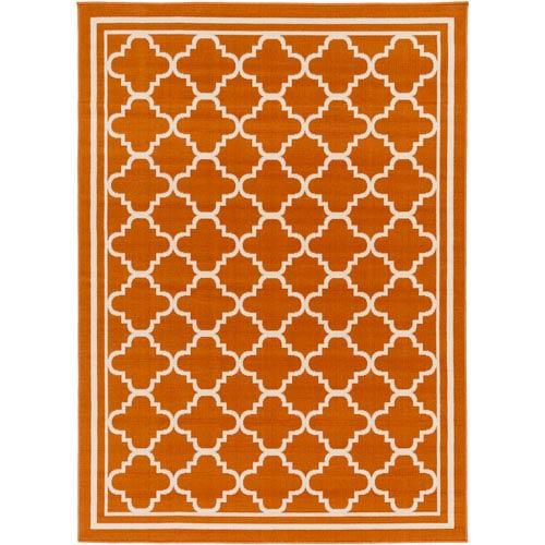 Marina Orange Rectangular: 9 Ft. 3-Inch x 12 Ft. 6-Inch Rug