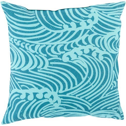 Helena Grace Mint and Teal 18-Inch Pillow with Poly Fill