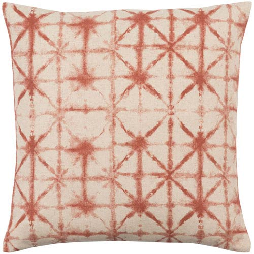 Nebula Orange and Neutral 22-Inch Pillow Cover