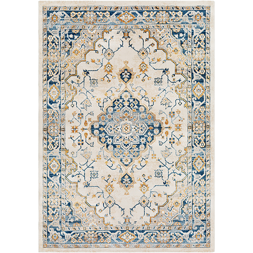Notting Hill Teal and Peach Rectangular: 7 Ft. 10 In. x 10 Ft. 3 In. Rug