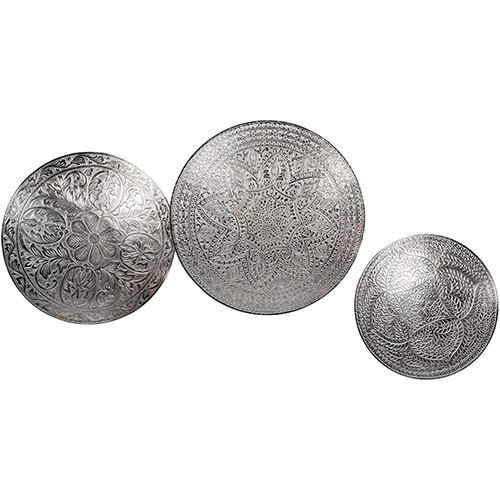 Noor Silver Decorative Accent, Set of Three
