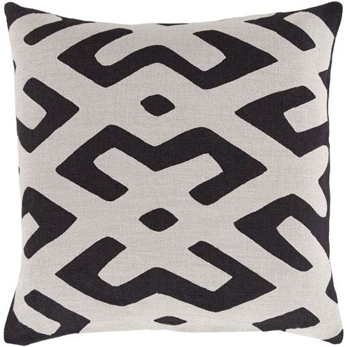 Surya Nairobi Gray And Black 40 Inch Pillow Cover Nrb40 4040 Bellacor Magnificent 22 Inch Pillow Covers