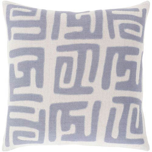 Surya Nairobi Charcoal and Light Gray 18-Inch Pillow with Poly Fill