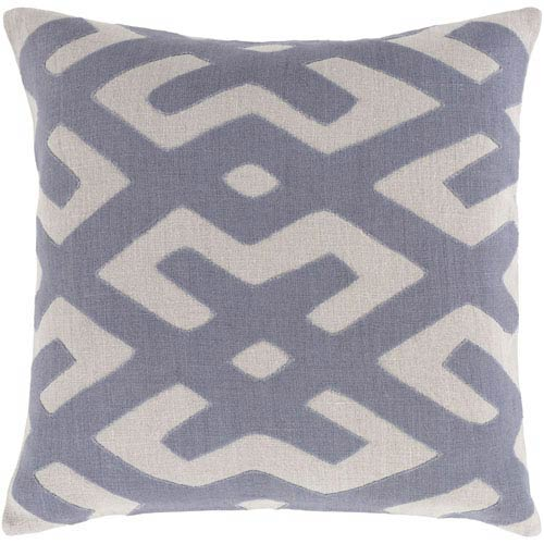 Nairobi Charcoal and Light Gray 18-Inch Pillow with Down Fill