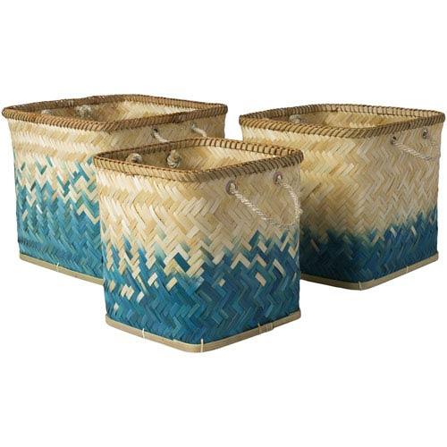 Naturita Butter and Teal Basket