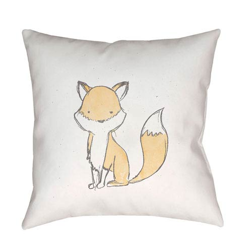 Surya Nursery Brown and White 18 x 18-Inch Throw Pillow