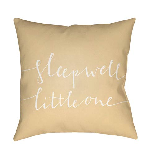 Surya Little One Yellow and White 18 x 18-Inch Throw Pillow
