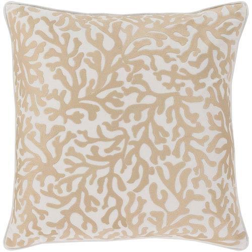 Surya Osprey Khaki and Cream 22 x 22 In. Throw Pillow