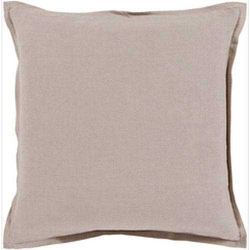 Orianna Gray 20-Inch Pillow with Poly Fill