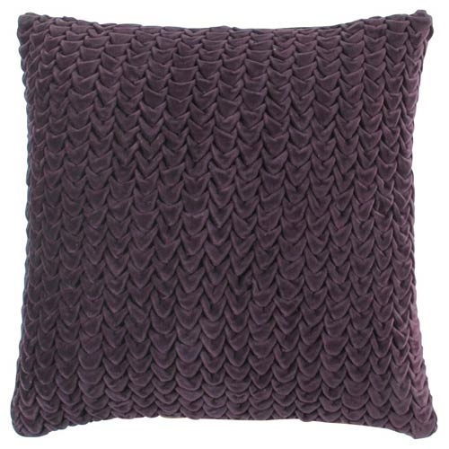 Plum Ripples 18 x 18 Pillow w/ Down Fill