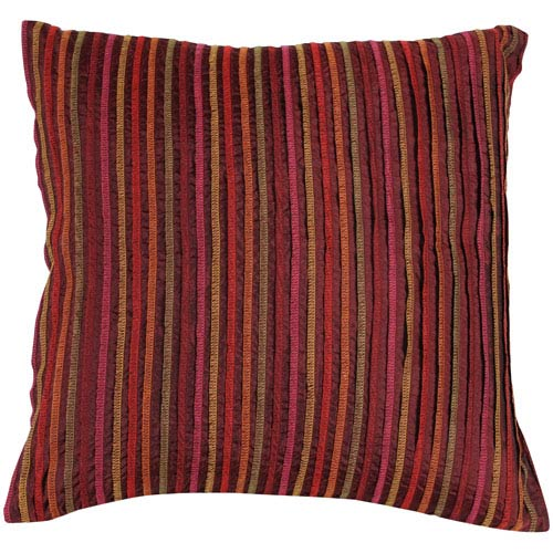 Surya Shades of Red Striped 18 x 18 Pillow