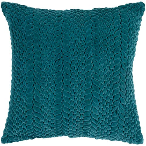 Velvet Luxe Green 18-Inch Pillow Cover