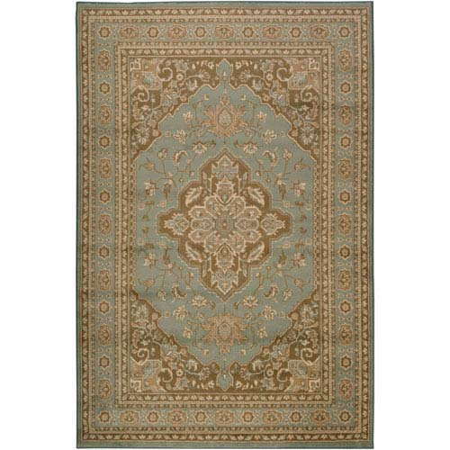 Surya Paramount Aqua Brown and Beige Rectangular: 5 ft. 3 in. x 7 ft. 6 in. Rug