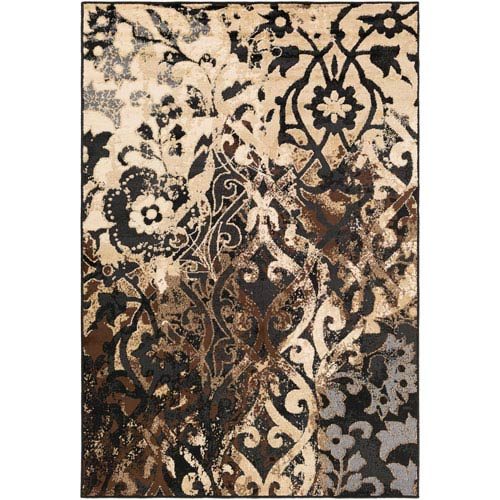 Paramount Black and Neutral Rectangular: 7 Ft 9 In x 11 Ft 2 In Rug