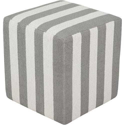 Gray and Neutral Picnic Cube Pouf