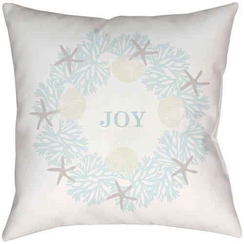 Coastal Joy White 16 x 16-Inch Throw Pillow