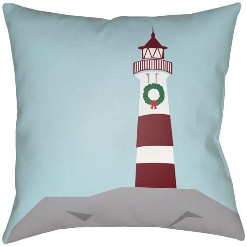 Surya Holiday Cove Aqua 16 x 16-Inch Throw Pillow