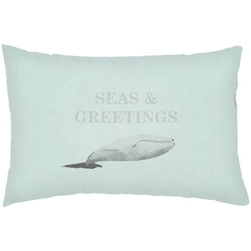 Surya Seas and Greetings Seafoam 24 x 14-Inch Throw Pillow