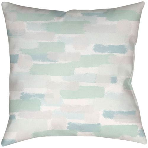 Surya Seaside Splendor Seafoam 18 x 18-Inch Throw Pillow