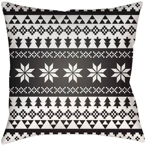 Surya Snowflake Sweater White 18 x 18-Inch Throw Pillow