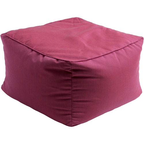 Piper Pink Cube Pouf