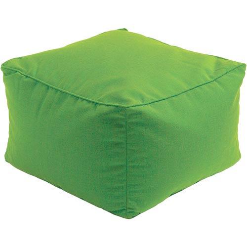 Piper Green Cube Pouf
