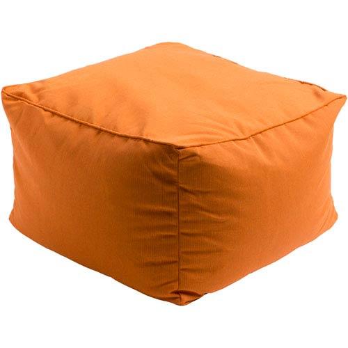 Piper Orange Cube Pouf