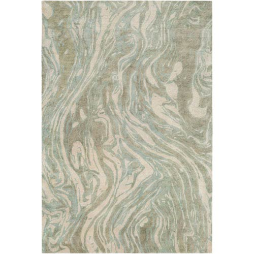 Surya Pisces Teal and Tan Rectangular: 2 Ft. x 3 Ft. Rug