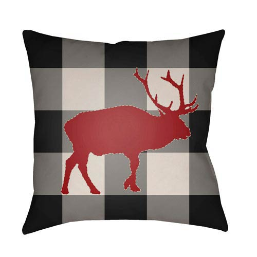 Black Buffalo 20-Inch Throw Pillow with Poly Fill