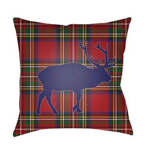 Red Buffalo 20-Inch Throw Pillow with Poly Fill