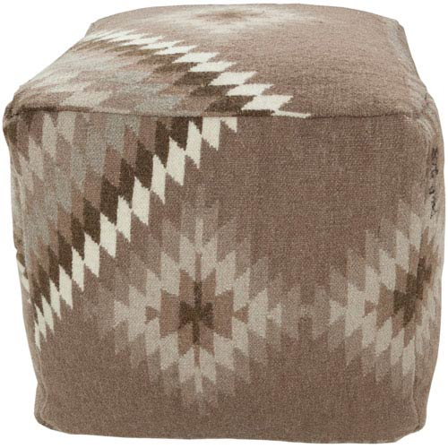 Southwest Taupe Pouf