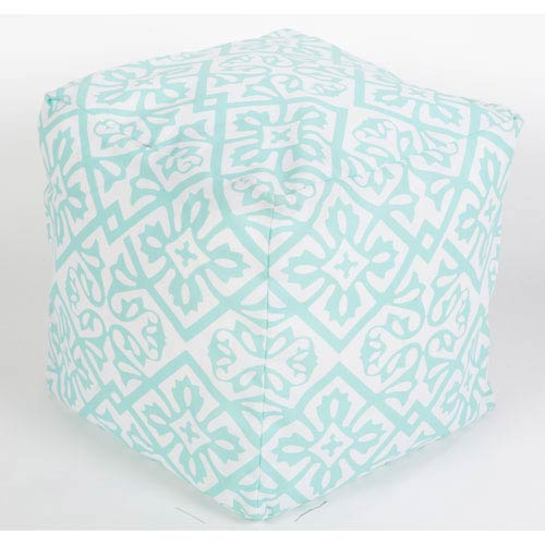 Blue and Pink Poufs Cube Pouf