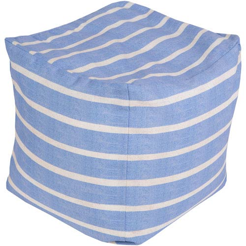 Blue and Neutral Poufs Cube Pouf