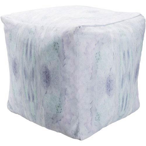 Surya Poufs Blue and Purple Pouf
