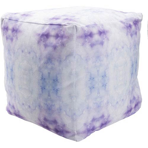 Surya Poufs Purple and Blue Pouf