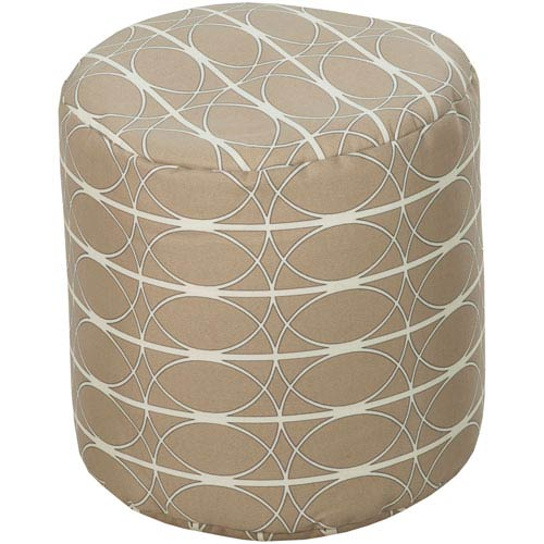 Desert Sand and Papyrus Pouf