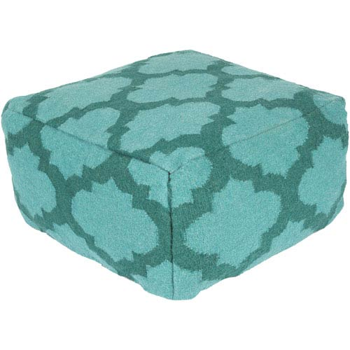Lattice Teal Pouf