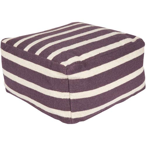 Striped Purple Pouf
