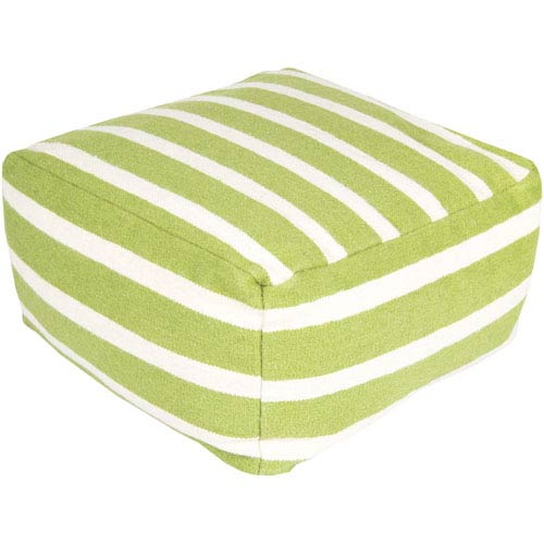 Striped Green Pouf