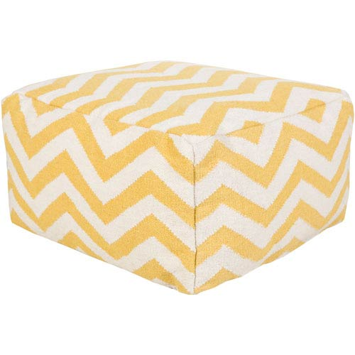 Chevron Yellow Pouf