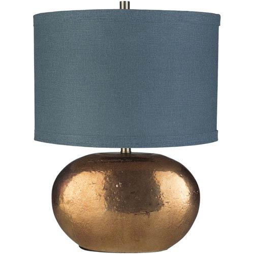 Proximity Copper Glazed Base Table Lamp with Navy Shade