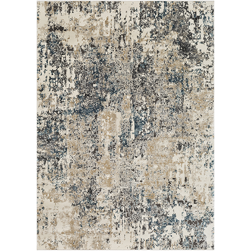 Pune Taupe and Charcoal Rectangular: 2 Ft. x 3 Ft. Rug