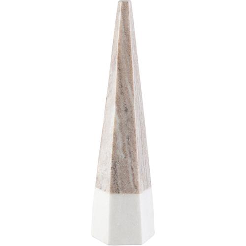 Tan and White Medium Pyramid