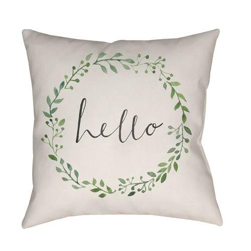 Surya Hello Multicolor 18 x 18-Inch Throw Pillow