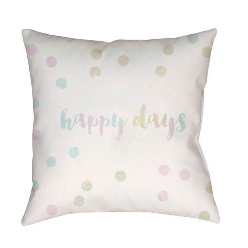 Surya Happy Days Multicolor 20 x 20-Inch Throw Pillow