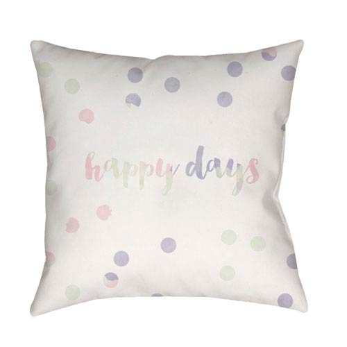 Surya Happy Days Multicolor 20 x 20-Inch Throw Pillow